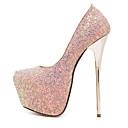 billige Højhælede sko til damer-Damer Sko Syntetisk Sommer Efterår Stilethæl Platå Til Formelt Hvid Sort Blå Lys pink
