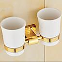hesapli Diş Fırçası Tutucakları-Diş Fırçalık Neoklasik Pirinç 1 parça - Otel banyo