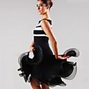 abordables Ropa para Baile Latino-Baile Latino Vestidos Mujer Rendimiento Licra Recogido Vestido / Danza Latina / Samba