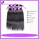 hesapli Moda Kolyeler-Hintli Saçı Düz / Klasik Virgin Saç İnsan saç örgüleri 3 Paket İnsan saç örgüleri İnsan Saç Uzantıları