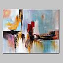 abordables Adhesivos de Pared-Pintura al óleo pintada a colgar Pintada a mano - Abstracto / Fantasía Modern Lona / Lona ajustada