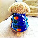 abordables Utensilios de Horno-Perro Camiseta Ropa para Perro Flores / Botánica Azul Algodón Disfraz Para mascotas Hombre Vacaciones Moda