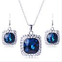 olcso Ékszer szettek-Mértani Ékszer szett - Hamis gyémánt Luxus, Party tartalmaz Bíbor / Zöld / Kék Kompatibilitás