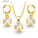 cheap Rings-Women's Synthetic Diamond Jewelry Set - Crystal, Gold Plated, Imitation Diamond Include Gold For Wedding / Party / Daily / Earrings / Necklace