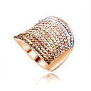 cheap Rings-Women's Band Ring - Zircon Fashion 6 / 7 / 8 Golden For Wedding / Party / Daily