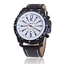 cheap Rings-Men's Quartz Wrist Watch Casual Watch Leather Band Charm Casual Black Brown