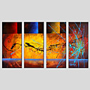 cheap Wall Sconces-Print Abstract Classic / Traditional / Pastoral Four Panels