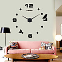 abordables De Armar Relojes de Pared-Casual Acero inoxidable Interior /Exterior,AA