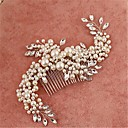 cheap Party Headpieces-Imitation Pearl Cubic Zirconia Alloy Hair Combs Headpiece