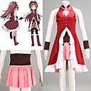 hesapli Anime Kostümleri-Esinlenen Puella Magi Madoka Magica Kyoko Sakura Anime Cosplay Kostümleri Cosplay Takımları Kırk Yama Etek / Elbise / Kollar Uyumluluk Kadın's