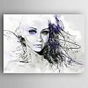 povoljno Bez unutrašnje Frame-Hang oslikana uljanim bojama Ručno oslikana - Ljudi Moderna Uključi Unutarnji okvir / Prošireni platno
