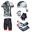 cheap Cycling Jersey & Shorts / Pants Sets-cheji® Men's Short Sleeves Cycling Jersey with Shorts - Black Bike Shorts Padded Shorts / Chamois Jersey Clothing Suits, 3D Pad, Quick