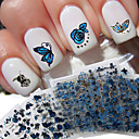 baratos Carimbos para Unhas-24 pcs Autocolantes de Unhas 3D arte de unha Manicure e pedicure Adorável Fashion Diário / Etiquetas de unhas 3D