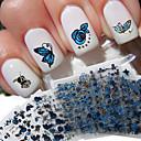 billige 3D Sticker-24 pcs 3D Negle Stickers Negle kunst Manicure Pedicure Smuk Mode Daglig / 3D Nail Stickers