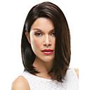 billige Syntetiske parykker uten hette-Syntetiske parykker Rett Syntetisk hår Brun Parykk Dame Medium Lengde Lokkløs Brun