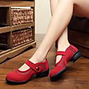 baratos Luzes Pingente-Mulheres Sapatos de Dança Moderna Veludo Têni / Meia Solas Salto Baixo Não Personalizável Sapatos de Dança Preto / Vermelho