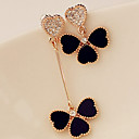 cheap Earrings-Women's Mismatched Drop Earrings - Rhinestone Classic, Trendy Black For Daily / Casual