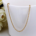 cheap Necklaces-Women's Chain Necklace - 18K Gold Plated Gold Necklace Jewelry For
