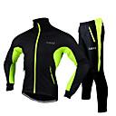 זול מונוקולרים, משקפות וטלסקופים-FJQXZ בגדי ריקוד גברים ג'קט ומגנסיים לרכיבה אופניים ג'קט / אימונית / מדים בסטים עמיד למים, עמיד לאבק, לביש צמר אדום / ירוק / כחול בגדי