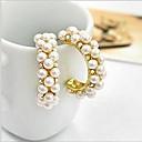 billige Smykke Sæt-Dame Syntetisk Diamant Stangøreringe Store øreringe - Perle, Imiteret Perle, Kvadratisk Zirconium Luksus Skærmfarve Til / Simuleret diamant