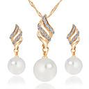 abordables Pelucas para Disfraz-Mujer Diamante sintético Conjunto de joyas - Perla damas Incluir Collar / pendientes Plata / Dorado Para Boda Fiesta Diario Casual