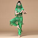 voordelige Kinderdanskleding-Buikdans Outfits Prestatie Chiffon Pailletten / Gouden munten / Kwastje Laag Top / Broeken / Masker
