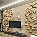 abordables Murales-Árboles y Hojas Art Decó 3D Decoración hogareña Moderno Revestimiento de pared, Lona Material adhesiva requerida Mural, Revestimiento de