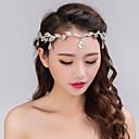 hesapli Saç Mücevheri-Kadın's Parti Düğün Kristal Yapay Elmas Gümüş Kaplama alaşım Saç Bandı Alın Sa Zinciri