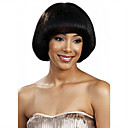 cheap Synthetic Capless Wigs-Synthetic Wig Straight Bob Haircut / With Bangs Synthetic Hair Black Wig Women's Short Capless Black