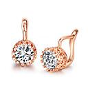 preiswerte Modische Ohrringe-Damen Kristall Ohrstecker - Kubikzirkonia, Diamantimitate Krone Silber / Rotgold Für