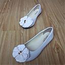 preiswerte Damen Ballerinas-Damen Schuhe Vlies Frühling / Herbst Komfort Flacher Absatz Schleife Rot / Rosa / Burgund