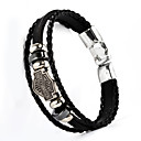cheap Men's Bracelets-Men's Leather Bracelet - Leather Fashion Bracelet Black / Brown For Christmas Gifts / Wedding / Daily
