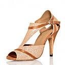 baratos Sapatos de Dança Latina-Mulheres Sapatos de Dança Latina / Sapatos de Salsa Glitter / Cetim Sandália / Salto Gliter com Brilho / Presilha Salto Personalizado