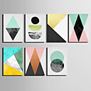 baratos Impressões-Abstrato Clássico, 1 Painel Tela de pintura Vertical Estampado Decoração de Parede Decoração para casa