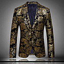 cheap LED Strip Lights-Men's Club Exaggerated Sophisticated Plus Size Cotton Slim Blazer Print