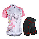 cheap Cycling Jersey & Shorts / Pants Sets-Nuckily Women's Short Sleeve Cycling Jersey with Shorts - Pink Bike Shorts / Jersey / Clothing Suit, Waterproof, Breathable, 3D Pad, Reflective Strips, Sweat-wicking Polyester, Spandex Butterfly