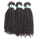 זול תוספות שיער בגוון טבעי-שיער ברזיאלי Kinky Curly שיער בתולי טווה שיער אדם 3 חבילות שוזרת שיער אנושי רך שחור תוספות שיער אדם / קינקי קרלי