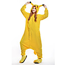 cheap Kigurumi Pajamas-Adults' Kigurumi Pajamas Pika Pika Onesie Pajamas Costume Polar Fleece Yellow Cosplay For Animal Sleepwear Cartoon Halloween Festival / Holiday / Christmas