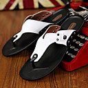 זול נעלי בית וכפכפים לגברים-בגדי ריקוד גברים נעלי נוחות עור אביב / קיץ כפכפים & כפכפים שחור / כתום / צהוב / ניטים