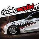 """baratos Adesivos Decorativos para Automotivo-um tamanho 60 """"* 20"""" cool dentes na boca de tubarão ho decalques do corpo do carro auto etiqueta reflexiva (1 par)"""