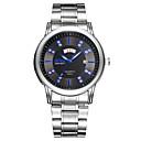 preiswerte Edelstahl-Herrn Armbanduhr Quartz 30 m Armbanduhren für den Alltag Edelstahl Band Analog Charme Kleideruhr Schwarz / Weiß / Blau - Weiß Schwarz Blau