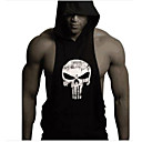 cheap Cell Phones-Men's Sports Active Tank Top - Skull Print Hooded / Sleeveless