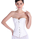 cheap Party Headpieces-Women's Hook & Eye Overbust Corset / Plus Size - Jacquard / Sexy