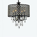 cheap Party Headpieces-QINGMING® 4-Light Drum Chandelier Uplight Chrome Metal Crystal 110-120V / 220-240V Bulb Not Included / E12 / E14