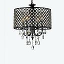billige Bryllupsblomster-QINGMING® 4-Light Drum Lysekroner Opplys Krom Metall Krystall 110-120V / 220-240V Pære ikke Inkludert / E12 / E14