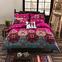 cheap Duvet Covers-Duvet Cover Sets Floral Cotton Reactive Print 4 Piece