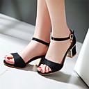 halpa Naisten sandaalit-Tyttöjen Kengät Tekonahka Kevät / Kesä Paksu korko / Block Heel Soljilla / Reikäkuvio Musta / Beesi / Punainen / Block Heel-sandaalit