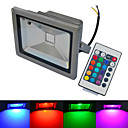 cheap 3D Puzzles-6000-6500/3000-3200 lm LED Floodlight 1 leds COB Waterproof Remote-Controlled Warm White Cold White RGB AC 85-265V