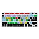 baratos Acessórios para Teclado-XSKN Ableton Live 9 atalhos silicone pele teclado para MacBook Air 13, MacBook Pro retina 13/15/17, nós / layout da UE