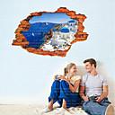 halpa Seinätarrat-Maisema Asetelma Wall Tarrat 3D-seinätarrat Koriste-seinätarrat, Vinyyli Kodinsisustus Seinätarra Seinä